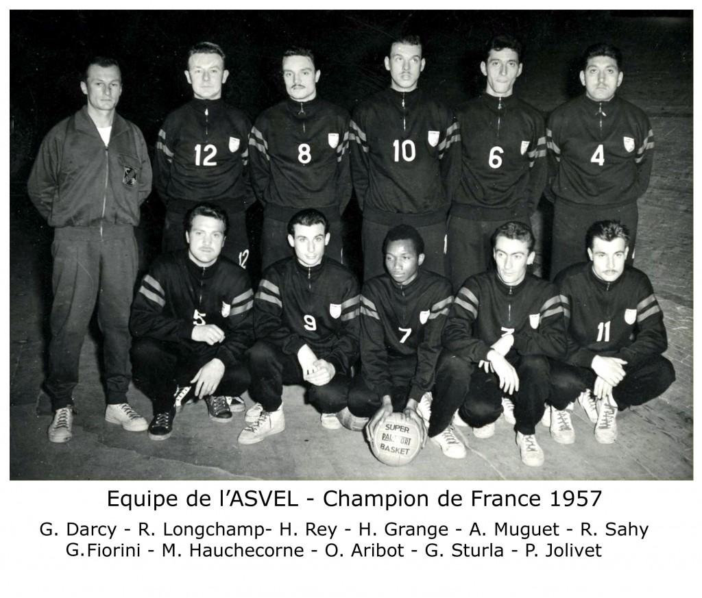 ASVEL Champion 1957