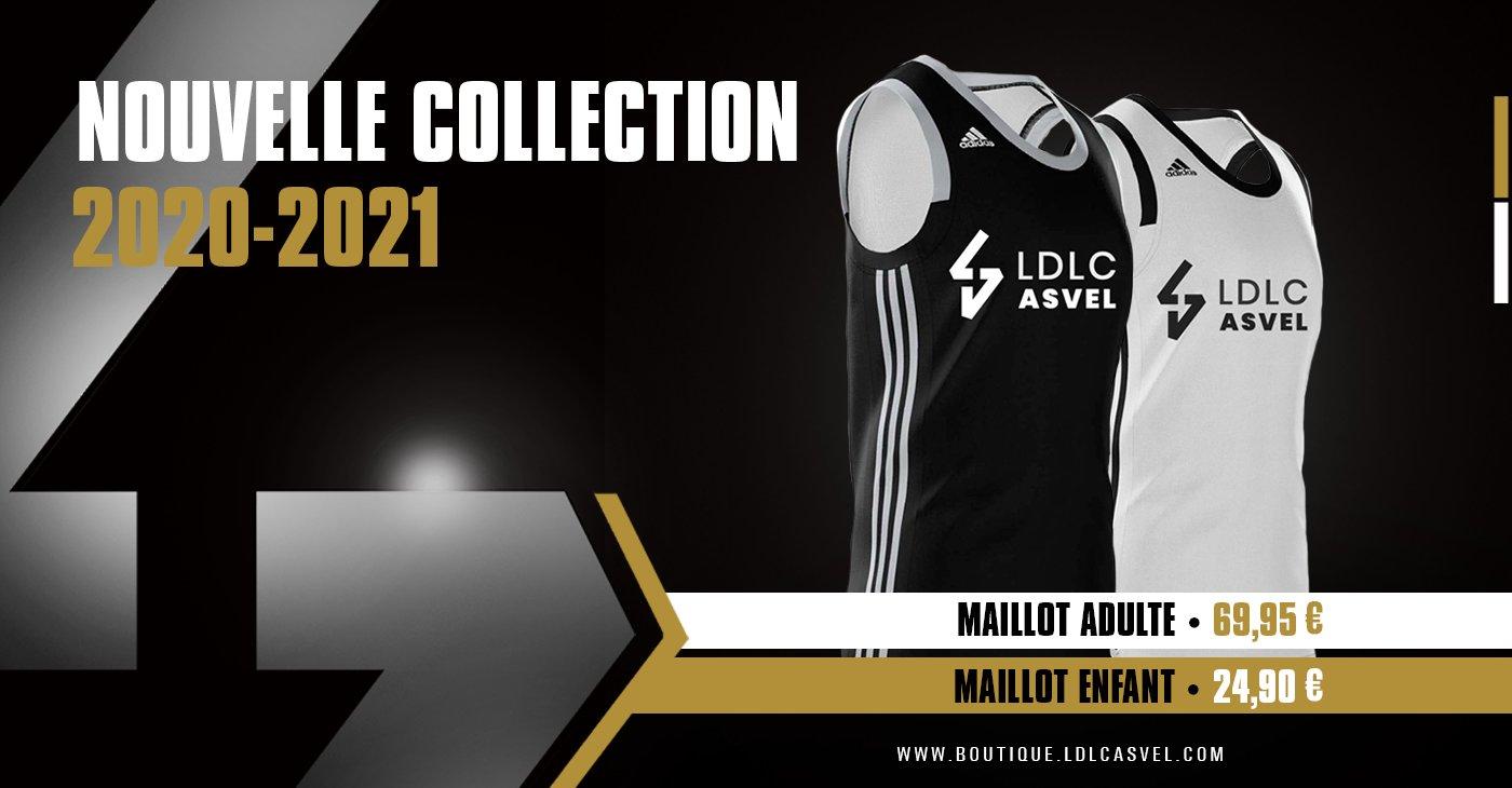 ASVEL Ldlc Maillot Officiel Ext/érieur 2019-2020 Basketball Jersey
